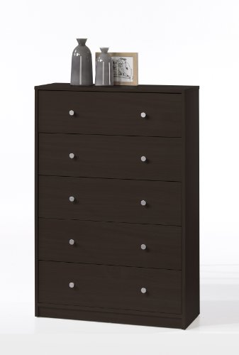 Tvilum Portland 5-Drawer Dresser, Coffee
