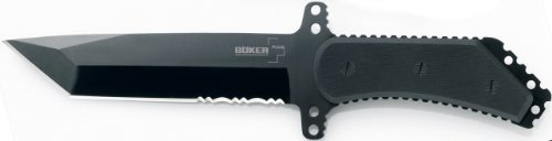Boker Plus 02BO216 Armed Forces Fixed Blade Knife with 7-1/3 in. Straight Edge Blade, Black