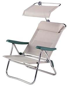 crespo fauteuil alu de plage multifibre coloris gris sports et loisirs. Black Bedroom Furniture Sets. Home Design Ideas