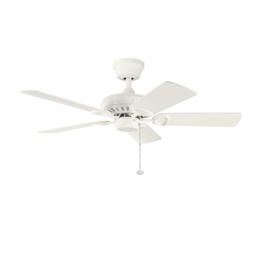 Kichler Lighting 337013Snw Sutter Place 42-Inch Ceiling Fan, Satin Natural White Finish With Satin Natural White Blades front-894162