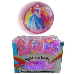 [ Goods imported cute characters girl glowing toys ] Disney Princess Light Up Ball 9402
