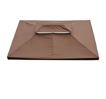 toile de toit toit rechange pour pavillon tonnelle tente 3x4m 3x4m chocolat neuf 82. Black Bedroom Furniture Sets. Home Design Ideas