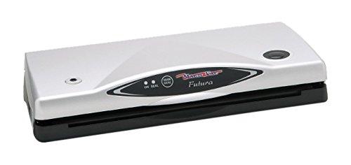 Magic Vac, Futura, Macchina per sottovuoto, 150 x 390 x 80 mm, 2,3 kg, 170 W, 230 V, 50 Hz, Nero/Bianco (Black, White)