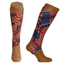 Adult hockey shin pad inner sock (Stars and stripes, Adult)