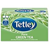 Brand New. Tetley Tea Bags Pure Green Tea Individually Wrapped Ref A07505 [Pack 25]