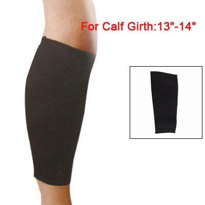 Elastic Calf Support Pullover Sleeve Protector Black