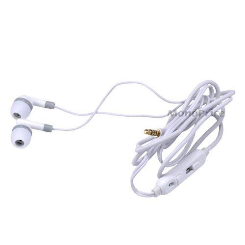 In-Ear Earphone W/ Inline Microphone- White [Electronics]