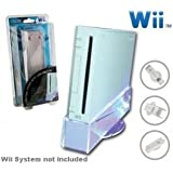 Oem Systems New Wii Hyperkin System Lighting Stand W/ Cooling Fan Blue Led Light Adds Style To Your Nintendo Wii