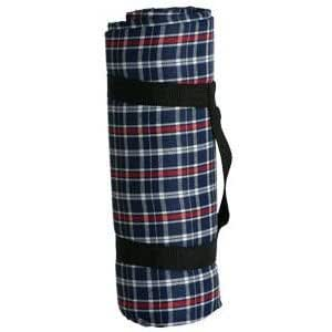 Sutherland Baskets Picnic Blanket Water Resistant Picnic Blanket - Red/White/Blue Plaid