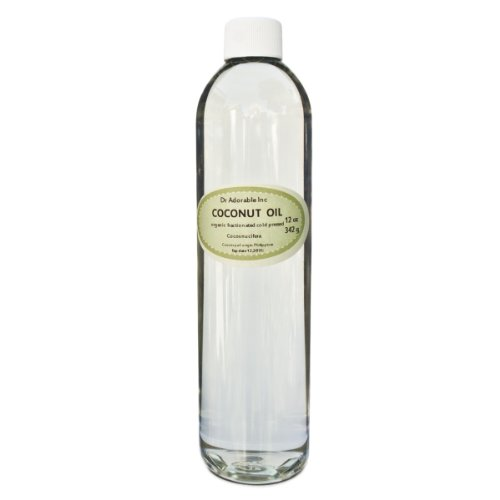 Fractionated Coconut Oil Pure Organic Raw By Dr.Adorable 24 Oz