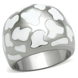 RIGHT HAND RING - High Polished Stainless Steel Abstract Dome Ring