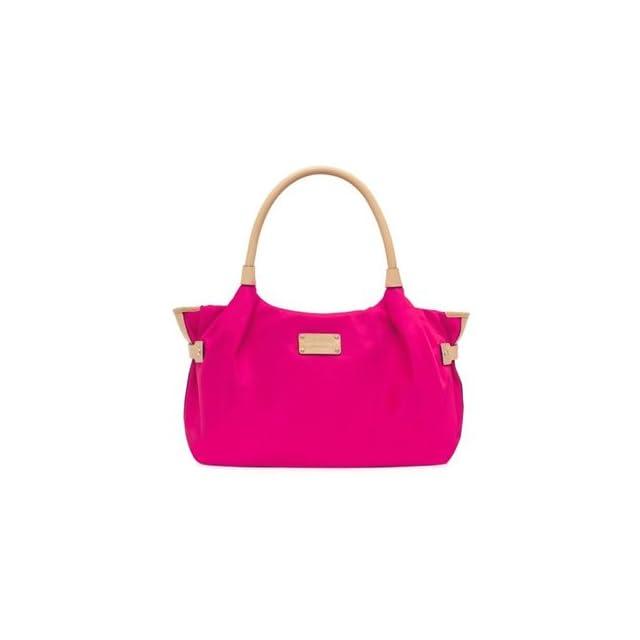 Kate Spade Pop Art Nylon Stevie Bag Purse Tote Pink Shoes
