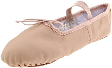 Dance Class Women's B403 Full Sole Leather Ballet Slipper,Pink,5 M US