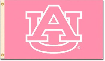 Auburn University - 3' x 5' NCAA Polyester Breast Cancer Awareness Flag at Amazon.com