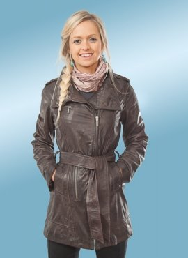 Ruby Womens Leather Jacket