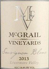 2013 Mcgrail Sauvignon Blanc, Livermore Valley 750 Ml