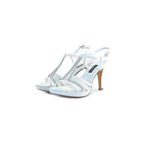 Decolte', sandali da sposa Albano, in raso bianco, taglia: 35