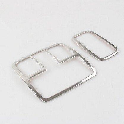 Charming 2 Stücke Auto Edelstahl Innenleselampe Abdeckung Overlay für Hyundai IX35 Auto Zubehör