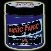 manic panic semi permanent hair dye colour cream after