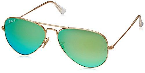 Ray-Ban Aviator Sunglasses (Green) (0RB3025112/1958)