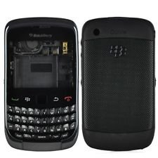 Replacement Faceplate Housing Body Panel for BlackBerry 9300 CURVE-Black Color