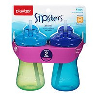 Playtex Lil' Gripper AnyTime Spill-Proof Straw Cups (Playtex Lil Gripper Straw Cup compare prices)