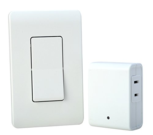 Woods 59773 Wireless Wall Switch Remote For Indoor Light Control, White (Remote Light Dimmer compare prices)