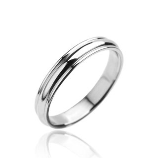 316L Stainless Steel Ring - Plain Engagement Band - Size: 5-13, 12