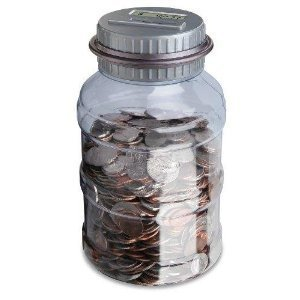 Emerson digital coin counting money jar bank 8133860071469 - Coin bank that counts money ...