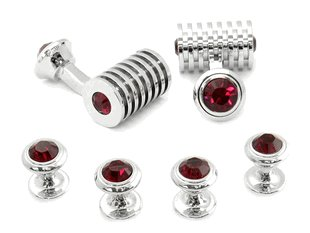 Ruby Red Swarovski Barrel Formal Set