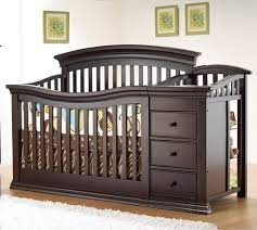 Cape Cod 4-In-1 Convertible Crib N Changer Combo Espresso By Sorelle