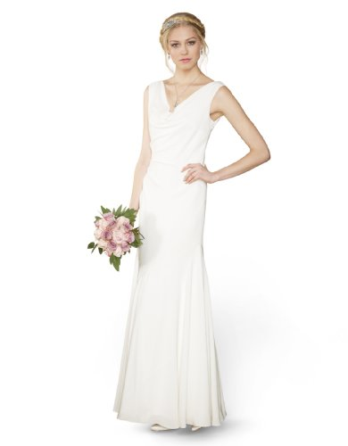Monsoon Womens Veronica Bridal Dress Size 12 White