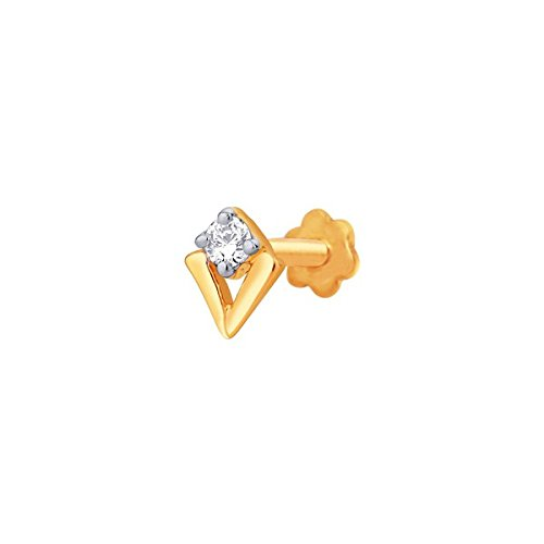 Sangini Sangini 18K Yellow Gold Diamond Nose Pin (Multicolor)