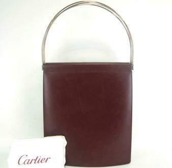 STUNNING, GENUINE CARTIER® 'TRINITY' HANDBAG in BURGUNDY. Hand Made in France (MEDIUM) NEW