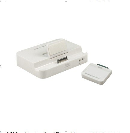 Multi-Function Wireless Receiver Hdmi & Av Video Data Sync And Power Charger Cradle Dock Stand Station Base Dock Docking Station Wireless Audio Transmitter For Ipad 3 Iphone 4S Ipad/Iphone/Itouch Series