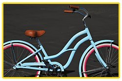 Aluminum Alloy Anti-Rust Frame, Fito Brisa Alloy 1-speed - baby blue/hot pink, women's 26