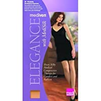 Mediven Elegance Silk, Panty, Closed Toe, 12-16mmHg, Compression Stocking, D, White
