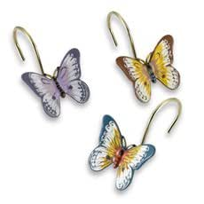 Butterfly Shower Curtain Rings Toys Games