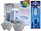 Drinkwell Original Fountain W/ Aqua Garden Cleaning Brushes 7 Filters and 50 oz Reservior