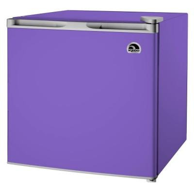 Igloo 1.7-cu ft Refrigerator, Purple-HEAVY DUTY CONSTRUCTION-3 Years Warranty