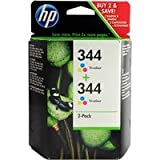 HP No344 Inkjet Prnt Cartridge 3 Colour C9505EE Pack of 2