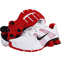 541eb6ee02d NIKE SHOX TURBO 11 MENS 407266 106 12 WHITE BLACK SPORT RED ...