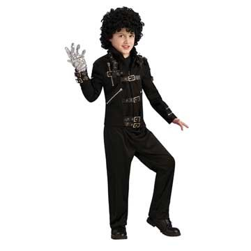Michael Jackson Costume, Child's Bad Black Buckle Jacket Costume