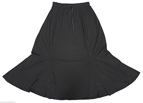 Altissimo-Womens-Black-Long-Gothic-Morticia-Fishtail-Godet-Skirt-Sizes-S-2XL