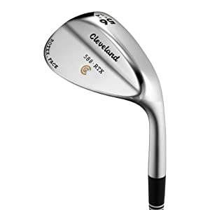 Cleveland Golf Mens 588 RTX Satin Chrome Standard Bounce Wedge by Cleveland Golf