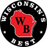 WISCONSIN'S BEST - Smoked Summer Sausage - JALAPENO & 100% WISCONSIN CHEDDAR CHEESE - Naturally Hickory Smoked - 12 oz  - Slice and Eat