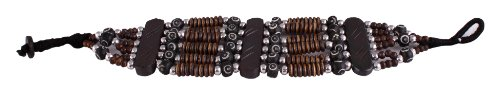 Sharnam Art Tribal / Ethnic master piece Wrist Band Set in brown color