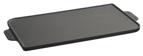 Lava Signature Reversible Cast-Iron Dual Grill/Griddle - 10 x 18.5 inch, Slate Black