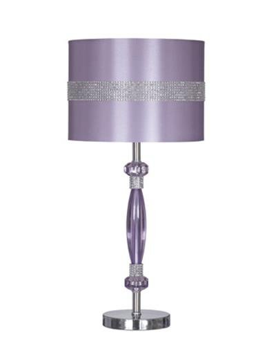 Ashley L801524 Table Lamp with Drum Shade, Purple/Silver