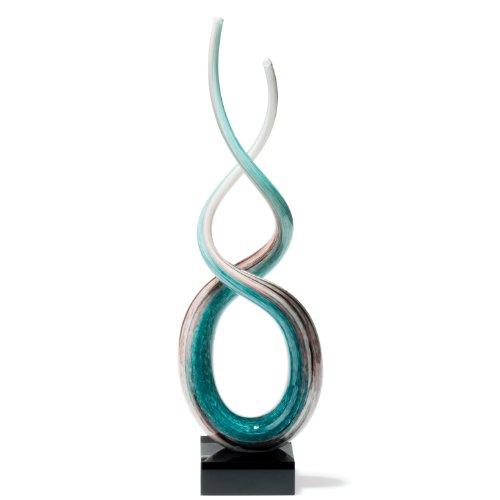 Leonardo 064115 Skulptur Rotate 48 cm, weiß / türkis thumbnail